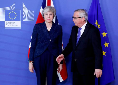 The UK Prime Minister was welcomed to Brussels ahead of a meeting on the Brexit deadlock.