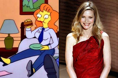 "<B>Appeared in:</B> 'The Last Temptation of Homer' (1993), playing a new nuclear power plant employee named Mindy. &mdash; who's so beautiful and charming that Homer wonders whether he can stay faithful to Marge.<br/><br/><B>Best line:</B> ""Homer? I got a really wicked idea that could get us into a <I>lot</I> of trouble... Let's do it. Let's call room service!"""