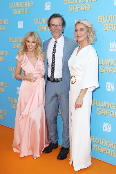 Kylie Minogue, Guy Pearce and Asher Keddie  at the <em>Swinging Safari </em>premiere in Sydney, Australia.&nbsp;