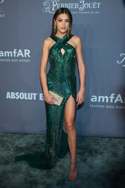 Sistine Stallone in Cristina Ottaviano at the 20th Annual amfAR Gala