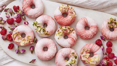 Coconut & Raspberry Prosecco Donuts