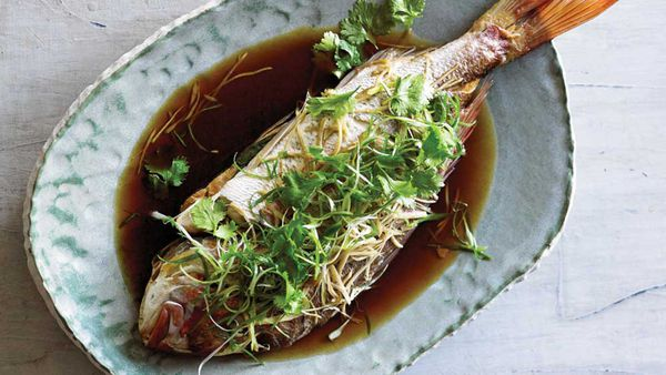 Adam Liaw's oven steamed fish