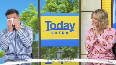 The sweet video proved too much for Today Extra host David Campbell.