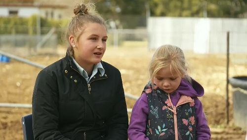 Madi Hourigan said the drought was being tough on families in the bush. Picture: 9NEWS
