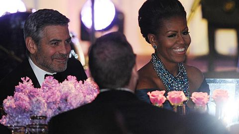 Michelle Obama is crushing on George Clooney?