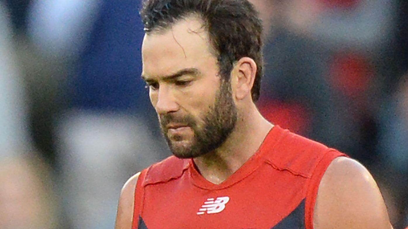 Melbourne's Jordan Lewis has bristled at talk of retirement