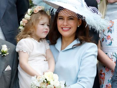 Lady Frederick Windsor with daughter Isabella.