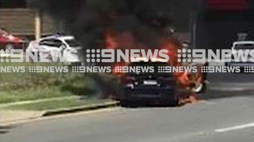 Wynnum Brisbane car fire explosion