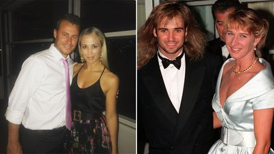 Sporting stars and their partners.