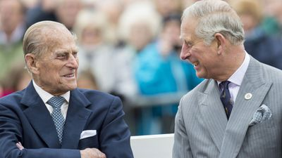 Prince Charles and his father, Prince Philip, 2016.