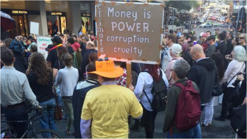 Protesters have reached Parliament House after clogging Brisbane CBD's streets this morning.