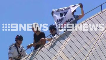 Protesters charged with scaling Opera House