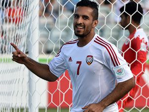 United Arab Emirates score after 14 seconds