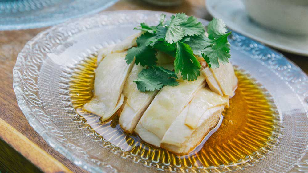 Hainanese peranakan chicken rice