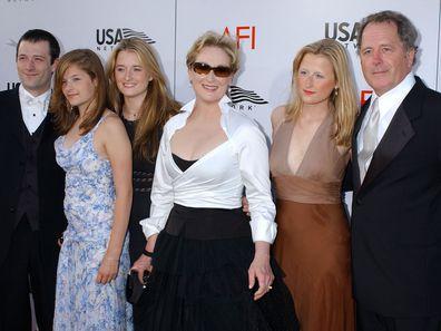Meryl Streep, Don Gummer and their children in 2004.