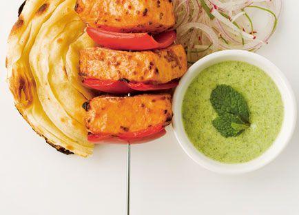 Tandoori fish fillets with capsicum