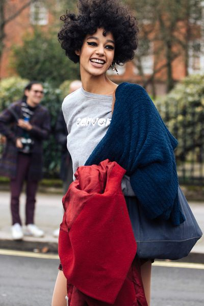 Dutch model Damaris Goddrie lives by the motto 'wild hair, don't care'.