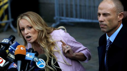 Stormy Daniels said she signed a confidentiality agreement over an alleged affair with President Donald Trump.