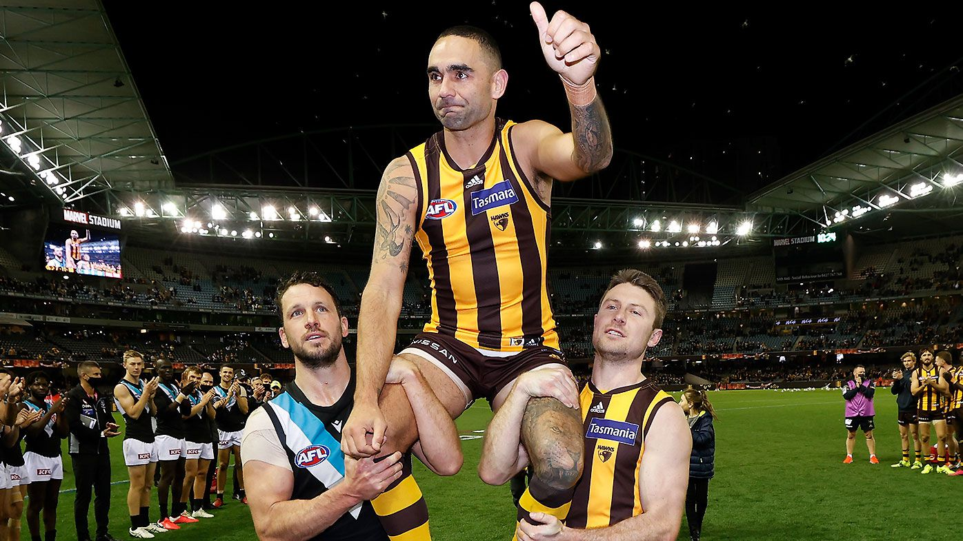 'An absolute champion': Tributes pour in for Shaun Burgoyne as Port Adelaide ruins milestone 400th match