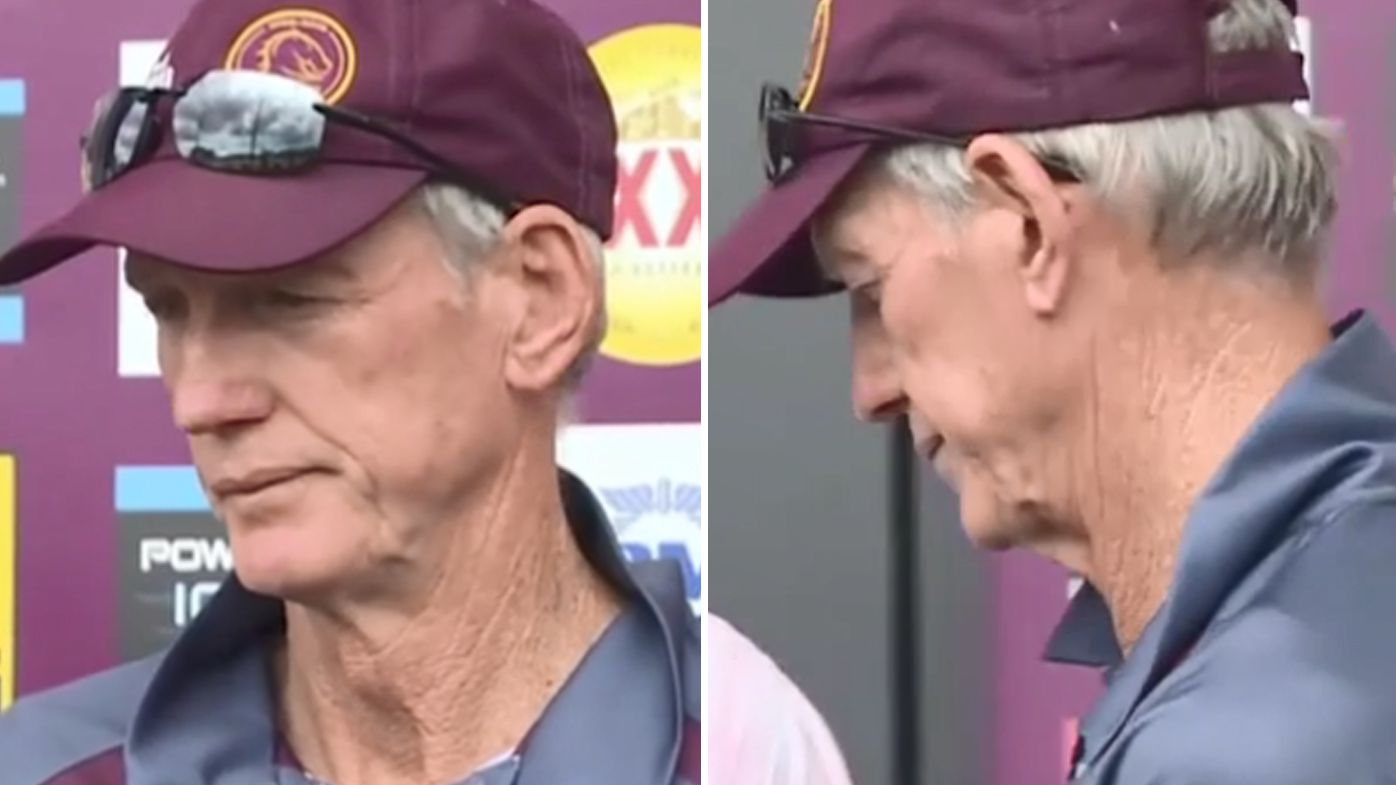 Wayne Bennett storms out of Brisbane Broncos press conference after NRL coaching future questions