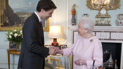 And he even manages to charm the Queen!
