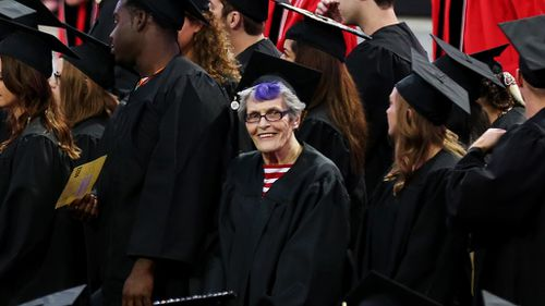 Ms Kops dropped out of university in 1947 to work and decided to go back 68 years later. (AAP)