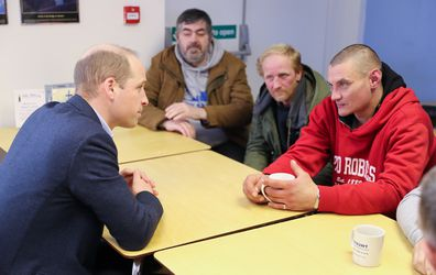 Prince William meets with homeless and vulnerable people