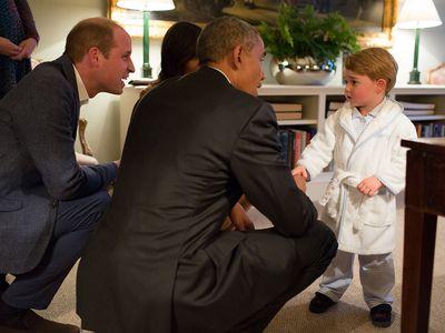 Prince George with Barack Obama, 2016