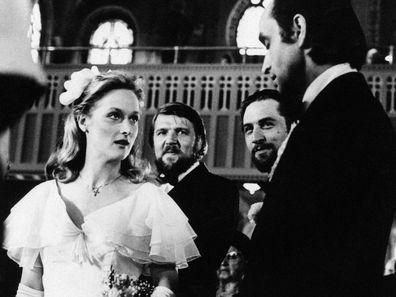 Meryl Streep and John Cazale in Deer Hunter