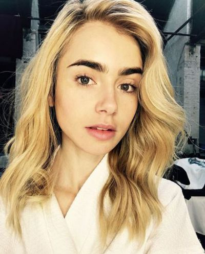 Actress and model Lilly Collins ditched her dark brown locks earlier this month for a bright and sunny hair hue.
