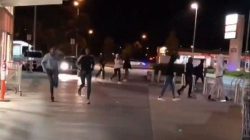 20 - 30 school aged youths gathered in Taylors Hill earlier this month to fight. Picture: 9NEWS