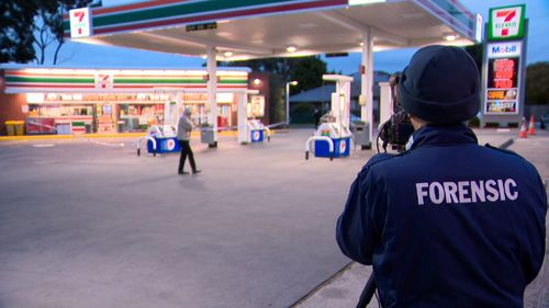 The attendant was shot in the elbow during the botched robbery. Picture: 9NEWS