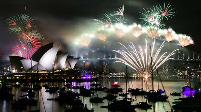 Sydney Harbour was illuminated overnight by a succession of fireworks. (AAP)