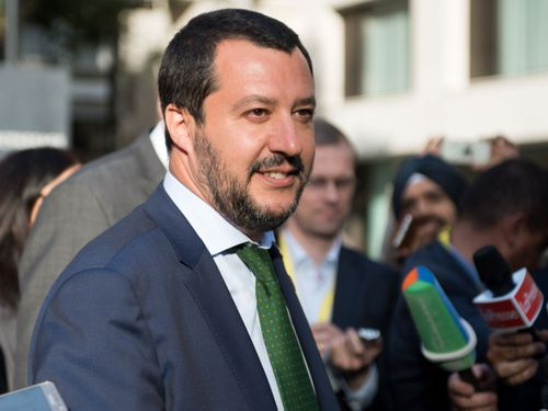 Italian Interior Minister Matteo Salvini has vowed to halt the migrant influx. Photo: AP