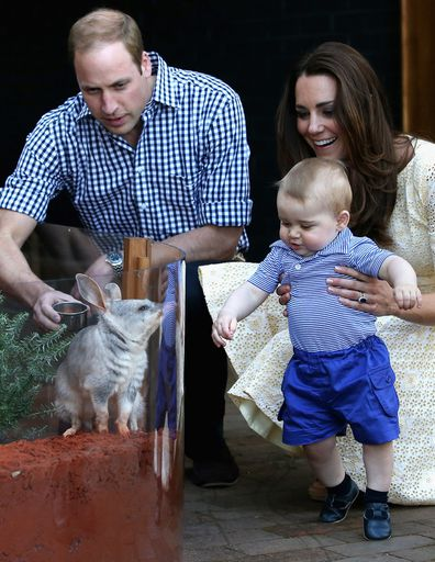 Prince George and the Duke and Duchess of Cambridge at Taronga Zoo in Sydney.