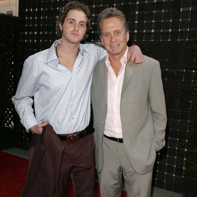"Michael Douglas and Cameron Douglas at ""A Father...A Son...Once Upon a Time in Hollywood"" Los Angeles Premiere in 2005."