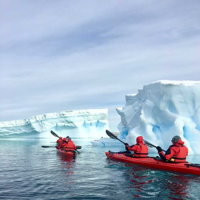 Antarctica PONANT sea kayaking