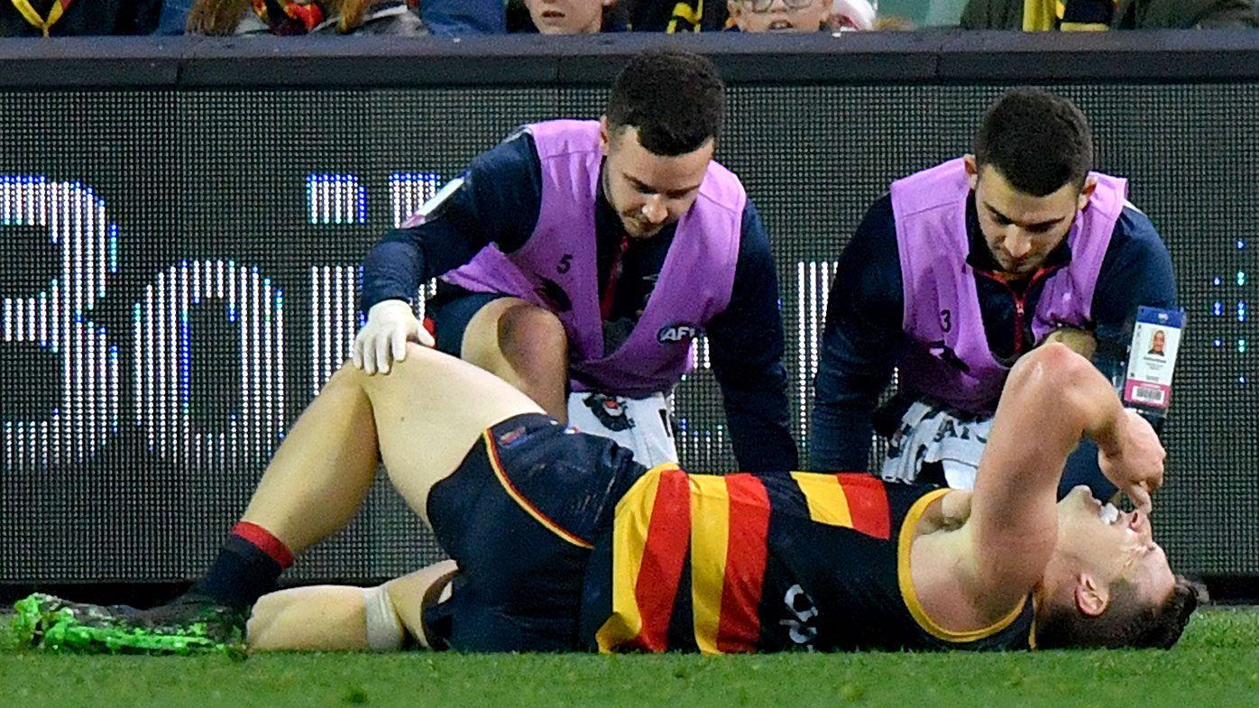 Adelaide star Josh Jenkins suffers gruesome knee injury