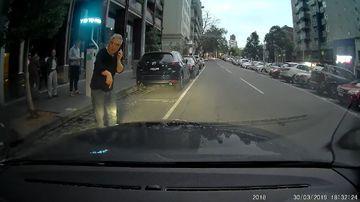 News Melbourne car parking space dash cam argument