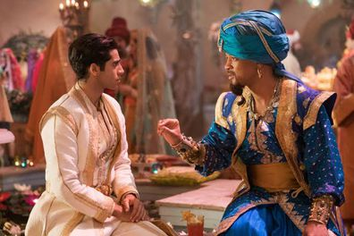 Mena Massoud, Aladdin, Will Smith,  on set, filming