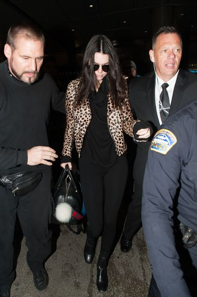 Kendall Jenner arrives at LAX.