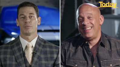 Cena (left) plays the 'long lost' brother of Diesel's character Dominic Toretto.