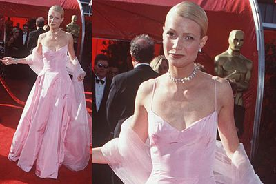 She was a blubbering mess when she accepted her award for <i>Shakespeare In Love</i>, but at least she looked good!