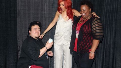 Rihanna fan proposes during backstage meet and greet