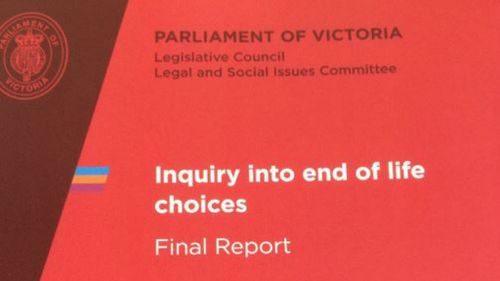 Parliamentary report recommends Victoria legalise assisted dying