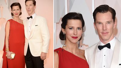 Actor Benedict Cumberbatch and wife Sophie Hunter. (Getty)