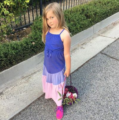 Daughter Hattie looks a little like her mother, but is also clearly her Daddy Dean McDermott's babe.