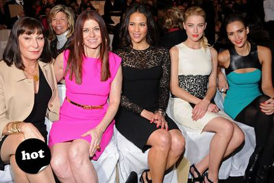 Now that is one eye-boggling row of damn sassy ladies!