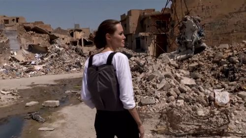 Angelina Jolie tours Mosul. Picture: UNHCR