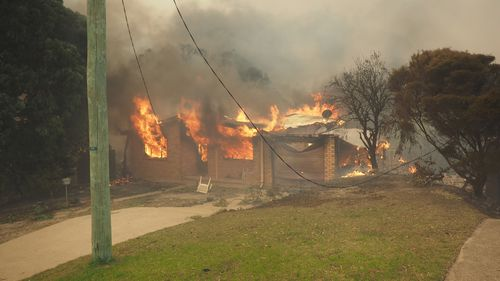 Flames sprang from every window. Picture: Supplied